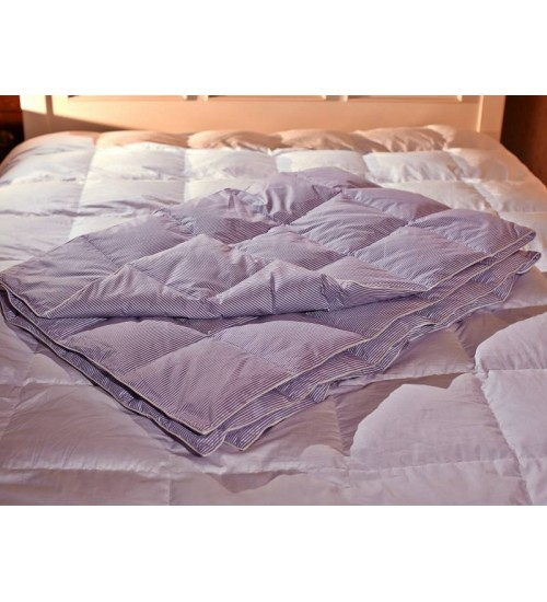 Одеяло пуховое кассетное коллекции Экопух Люкс Зима
