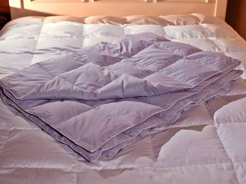 Одеяло пуховое сшить